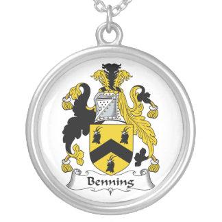 Escudo de la familia de Benning Colgante Personalizado