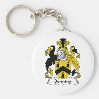 Escudo de la familia de Benning Llavero Personalizado