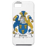 Escudo de la familia de Bennis iPhone 5 Case-Mate Coberturas