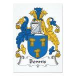Escudo de la familia de Bennis Invitación 12,7 X 17,8 Cm