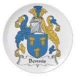 Escudo de la familia de Bennis Platos De Comidas