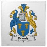 Escudo de la familia de Bennis Servilletas