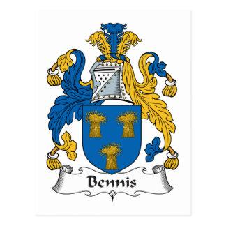 Escudo de la familia de Bennis Postal