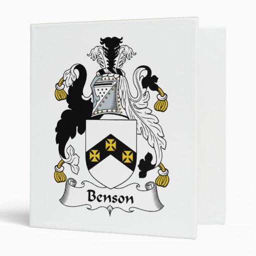 """Escudo de la familia de Benson Carpeta 1"""""""