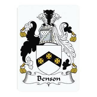 """Escudo de la familia de Benson Invitación 5"""" X 7"""""""