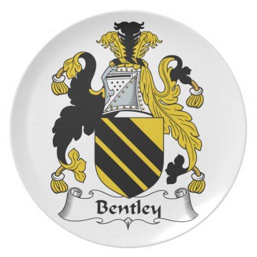 Escudo de la familia de Bentley Plato De Cena