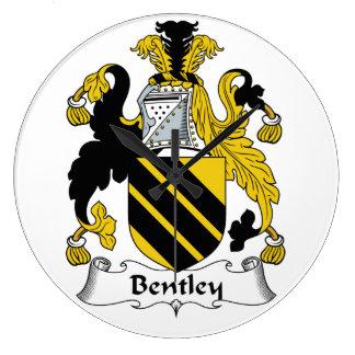 Escudo de la familia de Bentley Reloj Redondo Grande