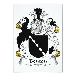"""Escudo de la familia de Benton Invitación 5"""" X 7"""""""