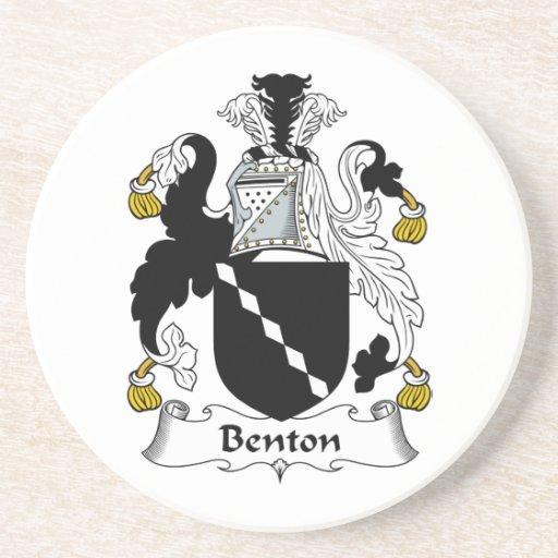 Escudo de la familia de Benton Posavasos Personalizados