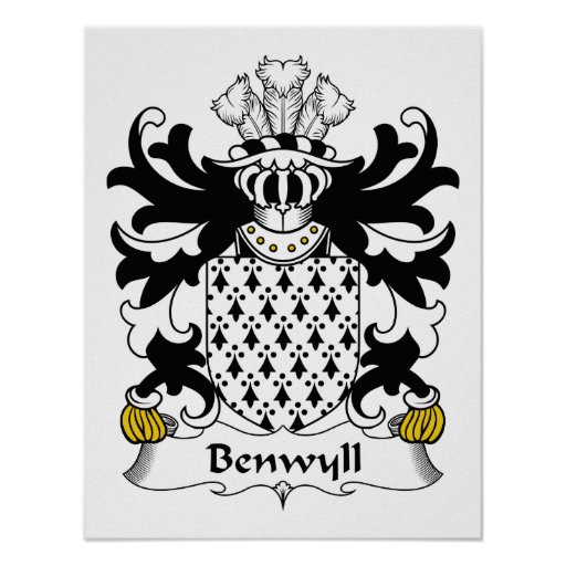Escudo de la familia de Benwyll Posters