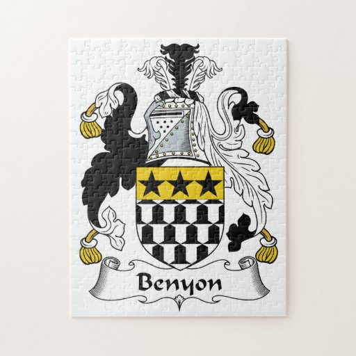 Escudo de la familia de Benyon Rompecabezas