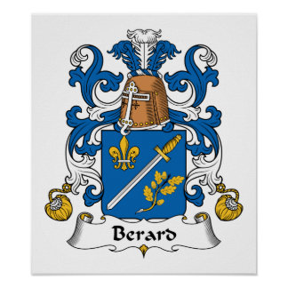 Escudo de la familia de Berard Impresiones