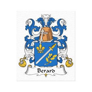 Escudo de la familia de Berard Lona Envuelta Para Galerias