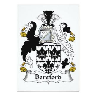 Escudo de la familia de Bereford Comunicados Personales