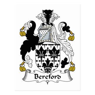 Escudo de la familia de Bereford Tarjetas Postales