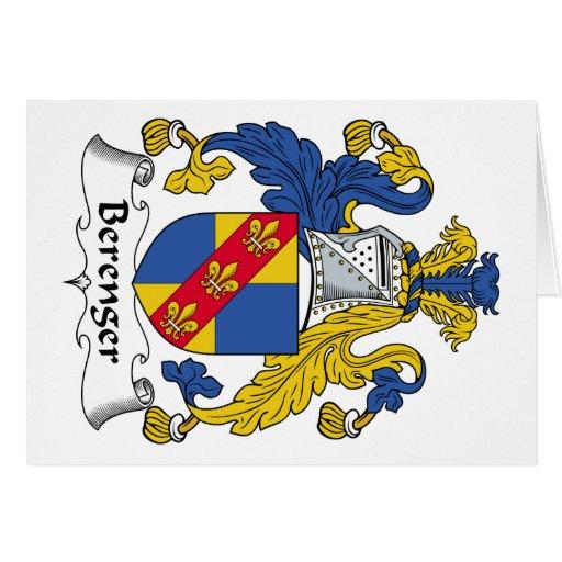 Escudo de la familia de Berenger Felicitaciones