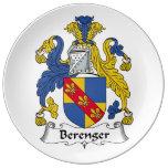 Escudo de la familia de Berenger Platos De Cerámica
