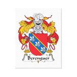 Escudo de la familia de Berenguer Impresión En Lienzo Estirada