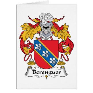 Escudo de la familia de Berenguer Tarjeta De Felicitación