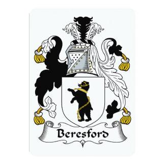 """Escudo de la familia de Beresford Invitación 5"""" X 7"""""""