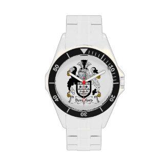 Escudo de la familia de Beresford Relojes De Mano