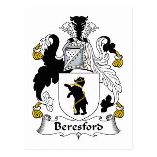 Escudo de la familia de Beresford Tarjetas Postales