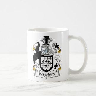 Escudo de la familia de Beresford Taza De Café