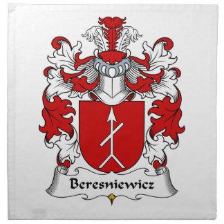 Escudo de la familia de Beresniewicz Servilleta Imprimida