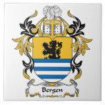 Escudo de la familia de Bergen Azulejos Cerámicos