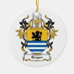 Escudo de la familia de Bergen Ornamento Para Arbol De Navidad