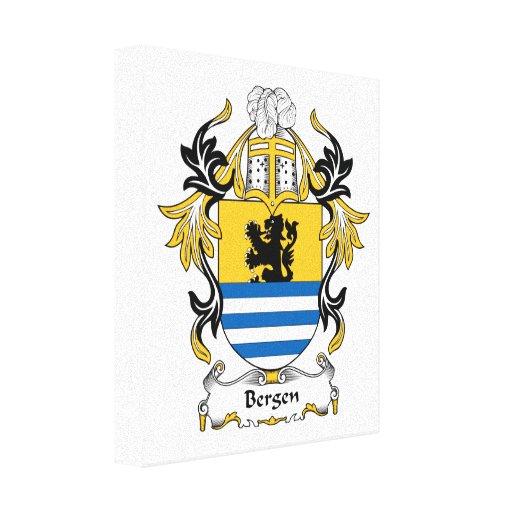 Escudo de la familia de Bergen Impresiones En Lona