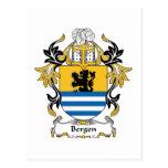 Escudo de la familia de Bergen Postales