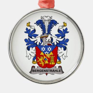 Escudo de la familia de Bergenstrahle Adorno Redondo Plateado