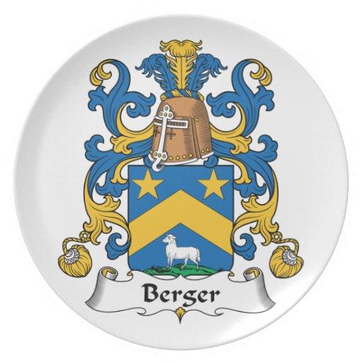 Escudo de la familia de Berger Platos