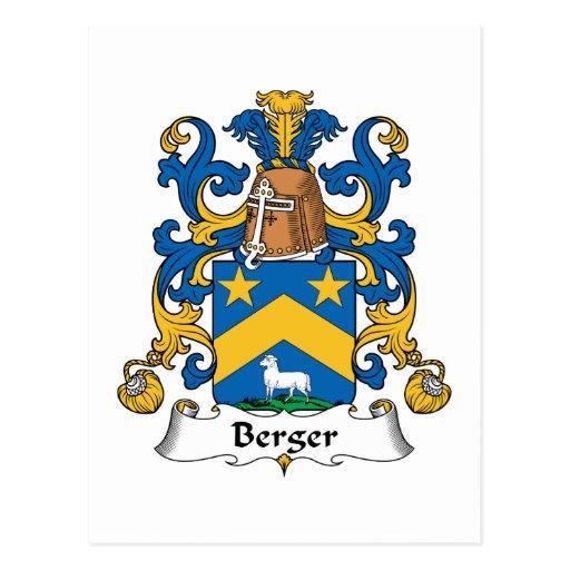 Escudo de la familia de Berger Postal