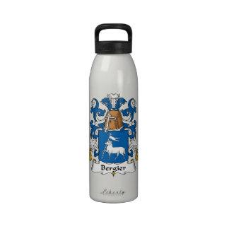 Escudo de la familia de Bergier Botella De Agua