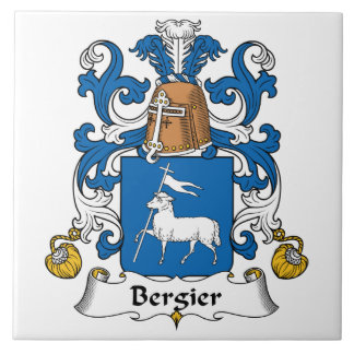 Escudo de la familia de Bergier Azulejo Cerámica