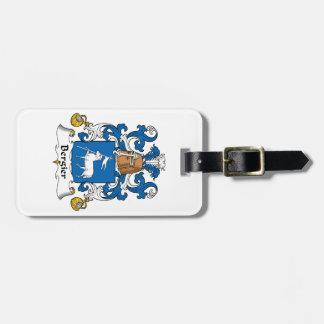 Escudo de la familia de Bergier Etiquetas Bolsa