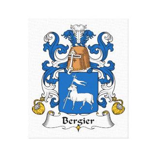 Escudo de la familia de Bergier Impresiones De Lienzo