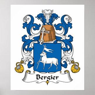 Escudo de la familia de Bergier Impresiones