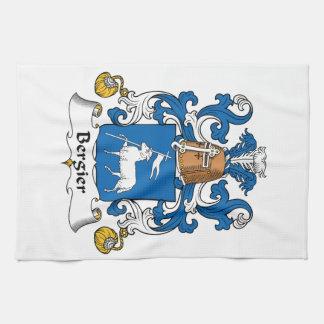 Escudo de la familia de Bergier Toalla De Cocina