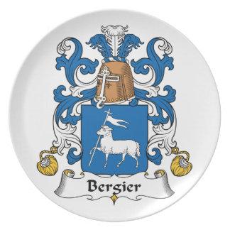 Escudo de la familia de Bergier Plato Para Fiesta