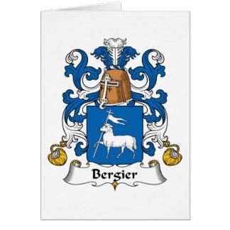 Escudo de la familia de Bergier Tarjeta