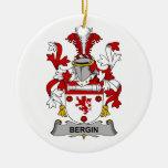 Escudo de la familia de Bergin Adornos De Navidad