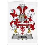 Escudo de la familia de Bergin Felicitación