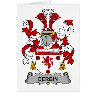 Escudo de la familia de Bergin Tarjeta De Felicitación