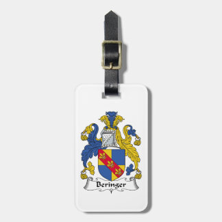 Escudo de la familia de Beringer Etiquetas De Maletas
