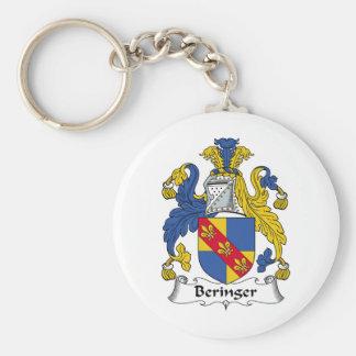 Escudo de la familia de Beringer Llavero Redondo Tipo Pin
