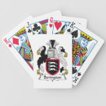 Escudo de la familia de Berington Baraja Cartas De Poker
