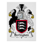 Escudo de la familia de Berington Poster